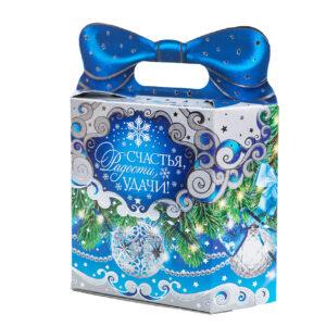 Подарок с бантом синий (премиум)